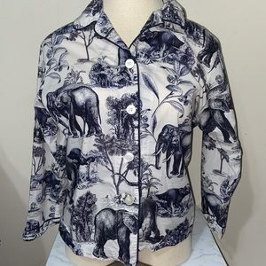 The cats pajamas safari toile top